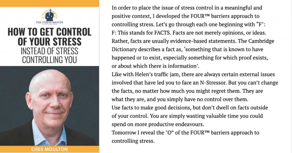 Barriers to Stress Control: 1 of 4 1