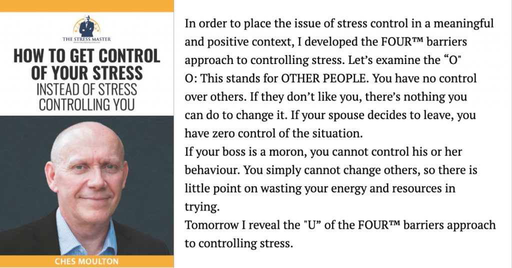 Barriers to Stress Control: 2 of 4 1