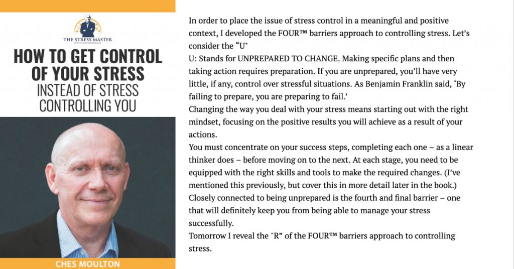 Barriers to Stress Control: 3 of 4 1