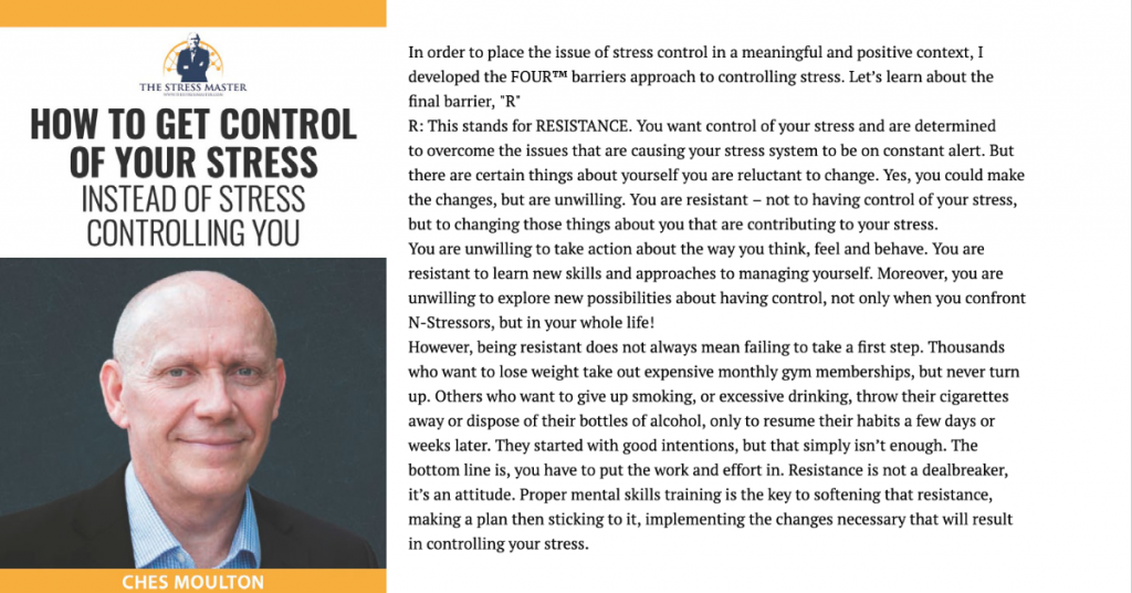 Barriers to Stress Control: 4 of 4 1